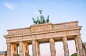 Statue on Brandenburg Gate, Berlin, Germany — Stock Photo