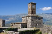 Ruins of old castle in Gjirokaster, Albania — Stock Photo