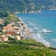 Typical bay with little town Arillas - Corfu, Greece — Stock Photo #61701289