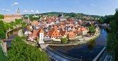Cityscape of Cesky Krumlov ( UNESCO heritage list) — Foto de Stock