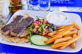 Traditional greek food — Stock Photo