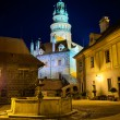 Square during the night on the castle in Cesky Krumlov, Czech Republic — Stock Photo #62675853