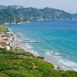 Typical bay with little town Arillas - Corfu, Greece — Stock Photo #62676137