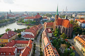 Ostrow Tumski from cathedral tower, Wroclaw, Poland — Stock Photo
