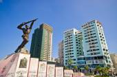 Monument of Partisan in Durres, Albania — Stock Photo