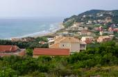 Agios Stefanos town in beautiful bay on Corfu island — Fotografia Stock