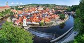 Cityscape of Cesky Krumlov ( UNESCO heritage list) — Stock Photo