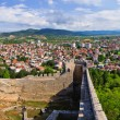 Old ruins of castle in Ohrid, Macedonia — Stock Photo #65667637