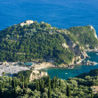 Mountain with old monastery near Paleokastritsa - Corfu, Greece — Stockfoto #65667669