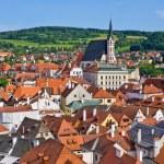 Cesky Krumlov - town on UNESCO list in Czech Republic — Stock Photo #65667689