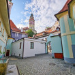 Square on the castle in Cesky Krumlov, Czech Republic — Foto Stock #66283039