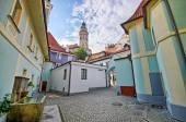 Square on the castle in Cesky Krumlov, Czech Republic — Stock Photo