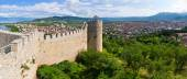 Old ruins of castle in Ohrid, Macedonia — Stock Photo