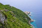 Green coast in Mediterranean country — Zdjęcie stockowe