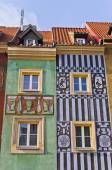 Tenement houses in Poznan, Poland — Stock Photo