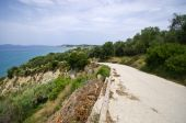 Asphalt road on Corfu island, Greece — Stock Photo