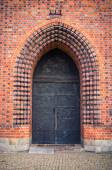 Ols gate of basilica in Poznan, Poland — Stock Photo