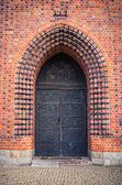 Ols gate of basilica in Poznan, Poland — Stockfoto