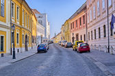 Narrow street on Castle Hill in Budapest, Hungary — Stock Photo
