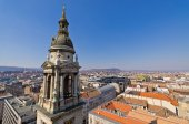 View on Budapest from st. Stephen's Basilica, Hungary — Stock Photo