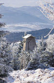 Hunting tower during the winter — Stock Photo