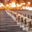 Yahrzeit candles at the Independence Square in Kiev. Ukraine — Stock Photo #64976617