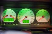 Luminous car dashboard — Stock Photo