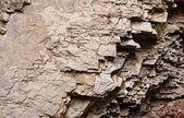 The layered rocks — Stock Photo