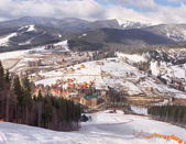 Beautiful view at the Carpathian Mountains, Ukraine — Stock Photo