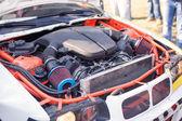 Engine of the drift car — Stock Photo