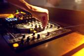 DJ mixing music — Stock Photo