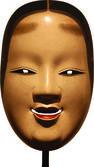 Old japanese kabuki mask — Vector de stock