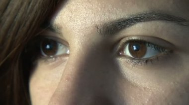 Close-up of woman's eyes — Stock Video