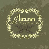 Vector vintage autumn leafs background — Stockvector