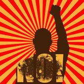 Vector grunge riot man protesting — Stok Vektör