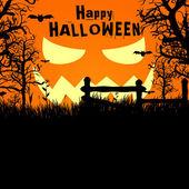 Vector halloween spooky yard background — Stock Vector