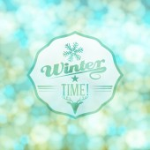 Vector cute winter badge illustration — Vecteur