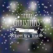 Vector cute winter scene, christmas card — Stock Vector
