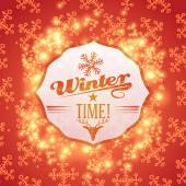 Vector cute winter badge illustration — Stock Vector