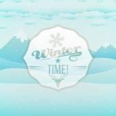Vector cute winter scene, winter time — Stock Vector