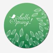 Vector retro style Spring card — Stock vektor