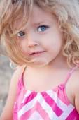 Summer portrait of a little girl — Stock Photo