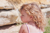 Summer portrait of a little girl — Stock Photo