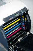 Color laser printer toners cartridges  — Stock Photo