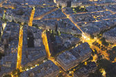 Nightfall in Paris, Ile-de-France, France — Stock Photo