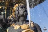 Fountain des Mers, Concorde square, Paris, Ile de France, France — Stock Photo