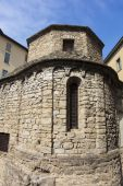 Church in the city of Bergamo, Lombardy, Italy — Stock Photo
