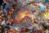 Art painting of ceiling in central hall of Villa Borghese, Rome — Stock Photo