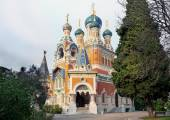 Russian Cathedral in Nice, France — Stock Photo