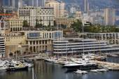 Bay of Monaco and view over Monte Carlo — Stockfoto